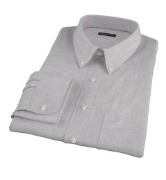 Light Grey Heathered Flannel Custom Made Shirt