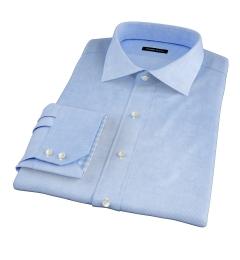 Thomas Mason Lt. Blue WR Houndstooth Tailor Made Shirt