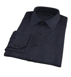 Black Japanese Flower Print Tailor Made Shirt