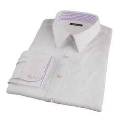 140s Lavender Fine Stripe Custom Dress Shirt