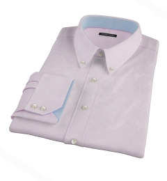 Thomas Mason Luxury Pink Mini Grid Dress Shirt