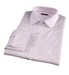 Lazio 120s Pink Multi Grid Fitted Dress Shirt