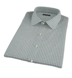 Canclini Green and Blue Multi Gingham Short Sleeve Shirt