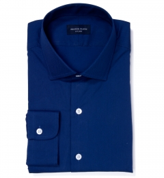 Blue and Black Pindot Dress Shirt