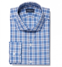 Siena Ocean Blue Multi Check Fitted Shirt