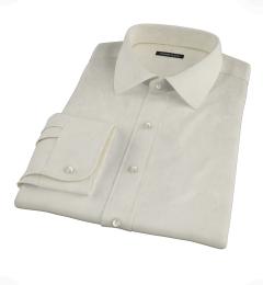 Greenwich Ivory Broadcloth Custom Dress Shirt