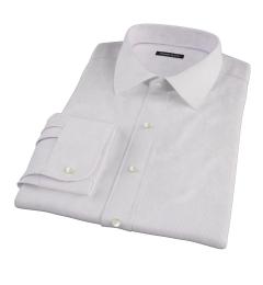 Carmine Purple Fine Stripe Men's Dress Shirt