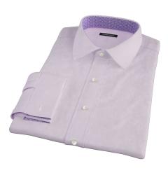 Thomas Mason Pink Mini Houndstooth Custom Dress Shirt
