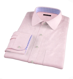 Thomas Mason Pink Luxury Broadcloth Custom Made Shirt