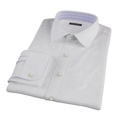 Wrinkle Resistant Lavender Multi Stripe Fitted Shirt
