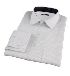 Mercer Red Twill Check Custom Dress Shirt