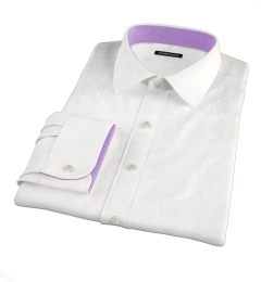 Portuguese White Seersucker Tailor Made Shirt