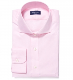 Thomas Mason Pink Fine Twill Fitted Dress Shirt