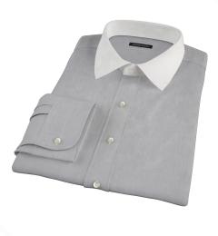 Jones Charcoal Grey End-on-End Custom Made Shirt