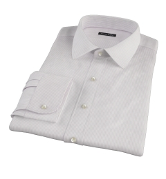 140s Lavender Fine Stripe Fitted Dress Shirt