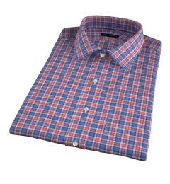 Sullivan Orange Melange Check Short Sleeve Shirt