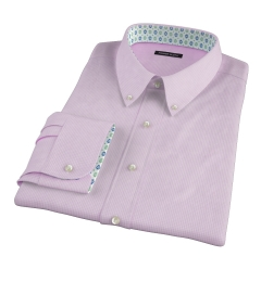 Canclini Pink 120s Mini Gingham Custom Made Shirt