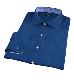 Canclini Ink Blue Linen Dress Shirt