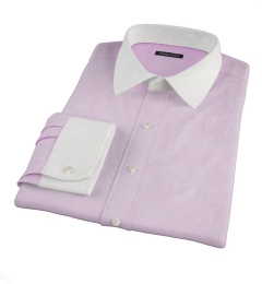 Canclini Pink Mini Gingham Custom Dress Shirt