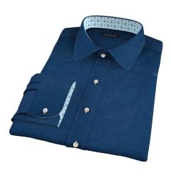 Redondo Dark Blue Linen Fitted Shirt
