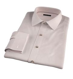 Genova 100s Beige End-on-End Fitted Dress Shirt