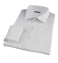 Mercer Blue Twill Check Custom Made Shirt