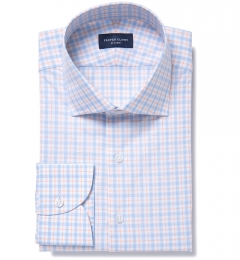 Novara Blue and Orange Check Custom Made Shirt