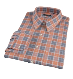 Orange Dock Street Flannel Fitted Shirt