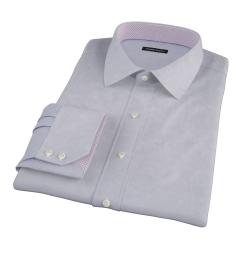 Grey 100s End-on-End Custom Made Shirt