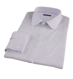 Thomas Mason Lavender Twill Custom Made Shirt