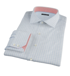 Pale Blue Gingham Tailor Made Shirt