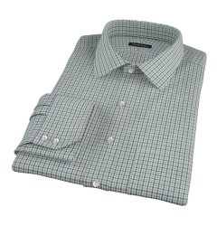 Canclini 120s Green Multi Gingham Custom Dress Shirt
