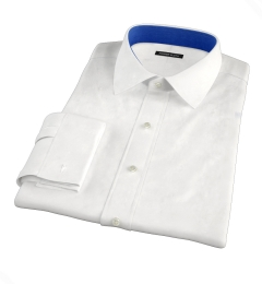 White Wrinkle-Resistant 100s Twill Fitted Shirt