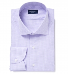Firenze 120s Lavender Multi Grid Custom Made Shirt