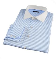140s Blue Wrinkle-Resistant Bengal Stripe Dress Shirt