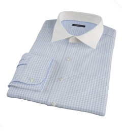 Light Blue Medium Gingham Custom Dress Shirt