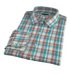 Dorado Aqua Plaid Custom Made Shirt