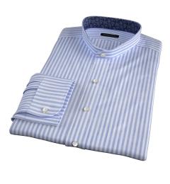 Albini Light Blue Chambray Stripe Custom Dress Shirt
