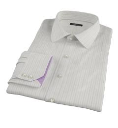 Lavender Grey Dobby Stripe Dress Shirt
