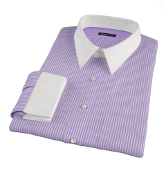 Carmine Purple Reverse Bengal Stripe Men's Dress Shirt
