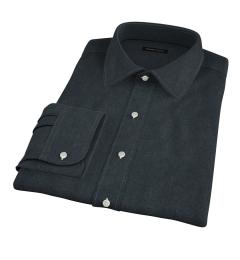 Canclini Green Twill Flannel Men's Dress Shirt