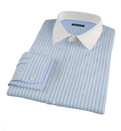 Canclini 120s Light Blue Reverse Bengal Stripe Men's Dress Shirt