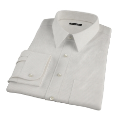 100s Khaki Stripe Dress Shirt