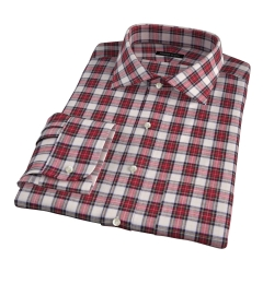 Japanese Red Donegal Tartan Men's Dress Shirt