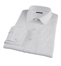 Blue Lavender Morton Grid Fitted Shirt