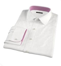 Greenwich White Twill Custom Dress Shirt