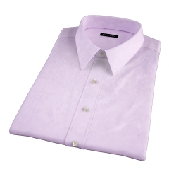 Lavender Wrinkle-Resistant Cavalry Twill Short Sleeve Shirt