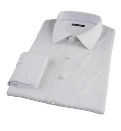 Brown Blue Morton Grid Custom Dress Shirt