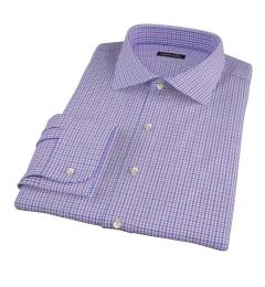 Canclini Purple and Blue Multi Gingham Men's Dress Shirt