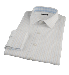 Blue and Orange Stripe Custom Dress Shirt